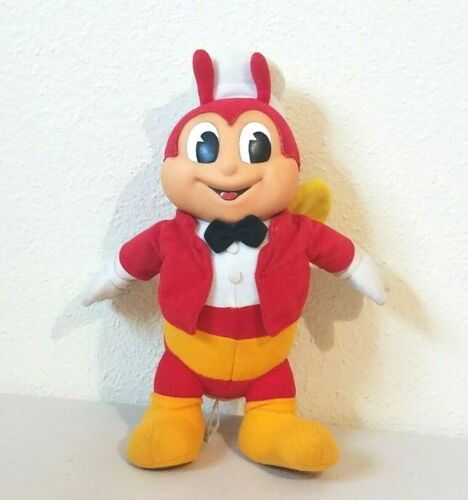 Jollibee Food Advertising Mascot with Rubber Face Stuffed Plush 10""