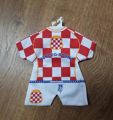 HERCEG-BOSNA Auto Wimpel Crna Legija Croatia Hrvatska Kroatien Ustasa NDH
