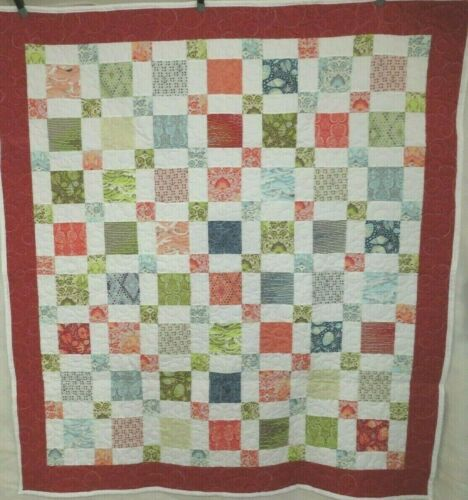 """Tula Pink Saltwater Quilt 59"""" x 61"""" - Edge to Edge Bubble Design Quilting - NEW"""