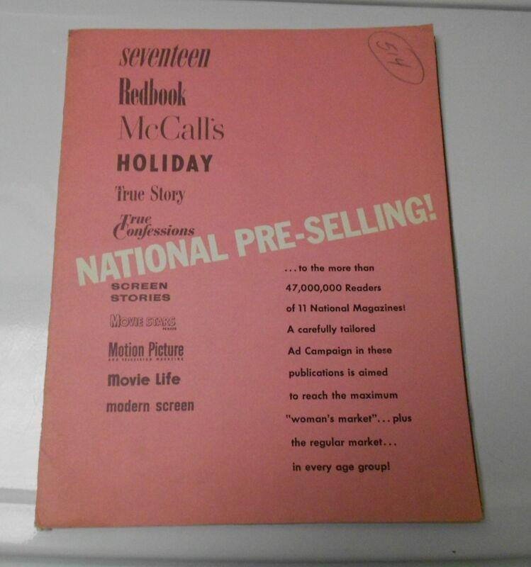 1957 INTERLUDE Press Book PressKit June Allyson Rossano Brazzi w/ 6 Photos FN+
