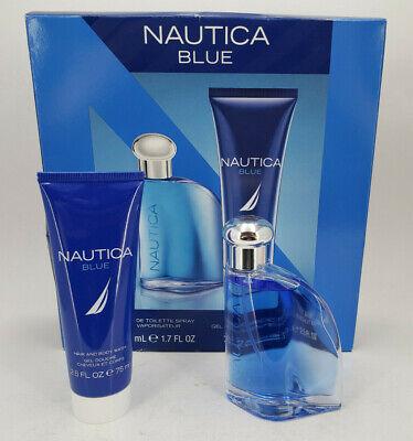 NAUTICA BLUE EAU DE TOILETTE SPRAY 1.7 OZ + HAIR & BODY WASH 2.5 OZ GIFT SET