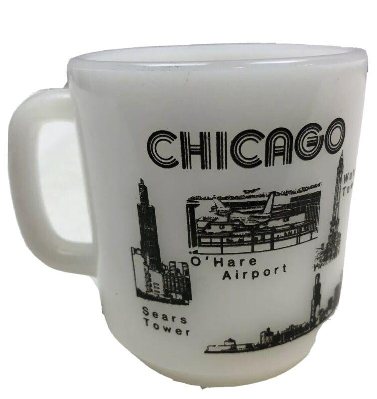 chicago skyline white glasbake mug 37