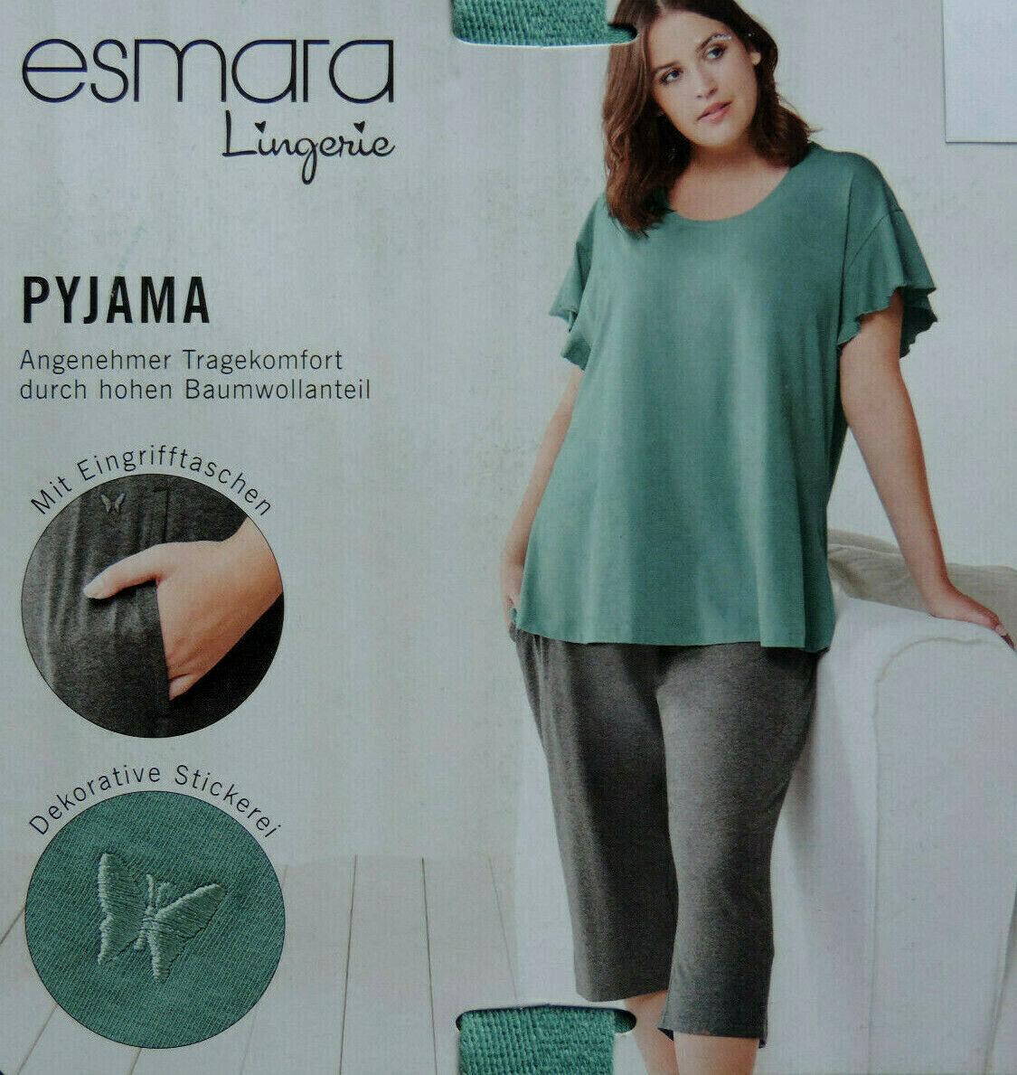 Damen Pyjama Schlafanzug XL XXL 3XL 58 Übergröße Sommerschlafanzug Hausanzug NEU