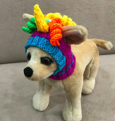 Pet Clothes Handmade Knit Outfit Halloween Hat  for Small Dog