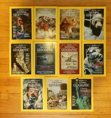 National Geographic 12 Issues 1986 W Case