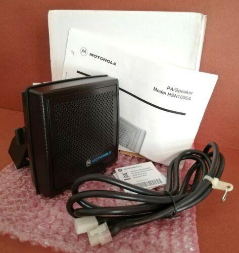 NEW Original MOTOROLA HSN1006A Audio PA / 6W Amplified Speaker - FULL SET in BOX
