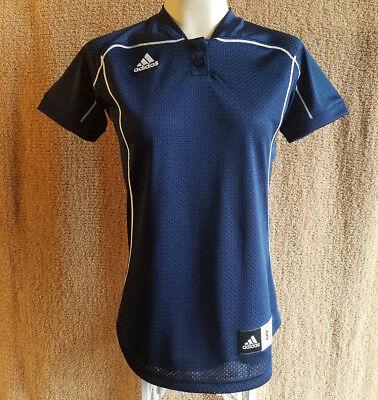 Women's Size Small Adidas Jersey Navy Blue White Golf Baseball Sports Fashion