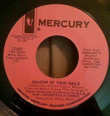 Shadow of Your Smile / Bird Bath promo 45 Robert Armbruster Mercury surf rock