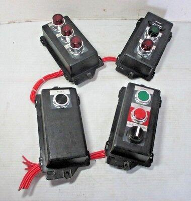 Honeywell Industrial Stopgo Ab Push Button Switch Timer Box Light Set Of 4