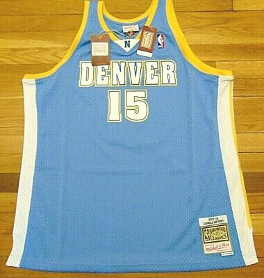 MITCHELL & NESS NBA HWC DENVER NUGGETS CARMELO ANTHONY SWINGMAN JERSEY SIZE 2XL