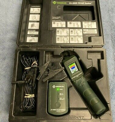 Lotd Greenlee Cs-8000 Circuit Seeker Tracer Finder Transmitter Receiver