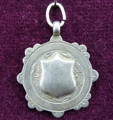 1949 Antique Pocket Watch Fob Solid Sterling Silver 7.1g Blank