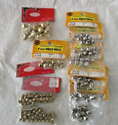 Lot of 10 packages Miniature Craft JINGLE BELLS Miscellaneous Sizes