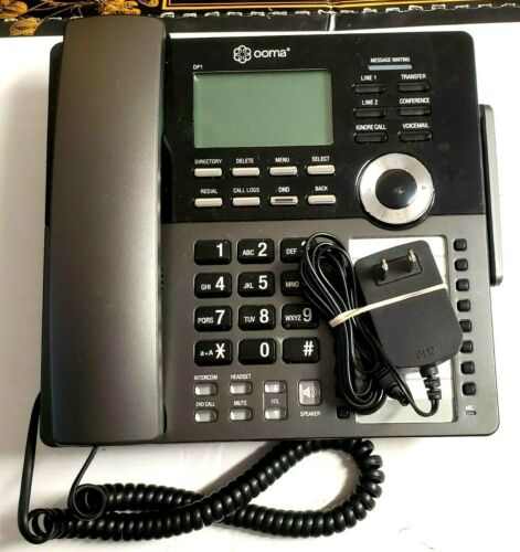 OOMA DP1-T WIRELESS BUSINESS DESK PHONE. CONNECTS WIRELESSLY TO OOMA TELO D5.4