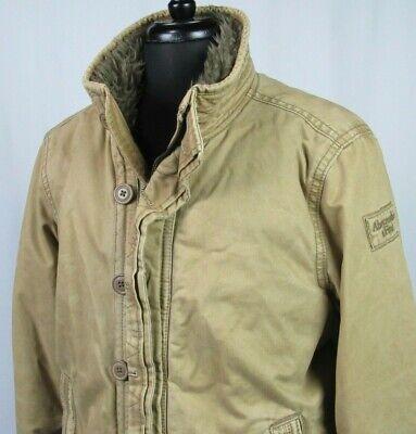 Men's Vintage Abercrombie & Fitch Heave Faux Fur Lined Adirondack Jacket XL