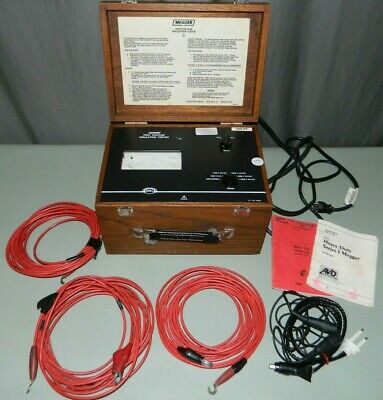 Genuine Biddle Megger 218660 High Voltage Insulation Tester With Leads Manuals
