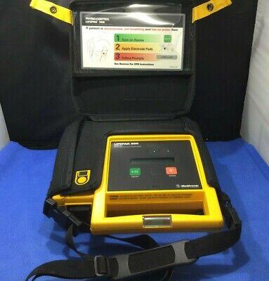 Medtronic Lifepak 500 Biphasic Aed W 2021 Battery Case 1 Electrode Set Bkp