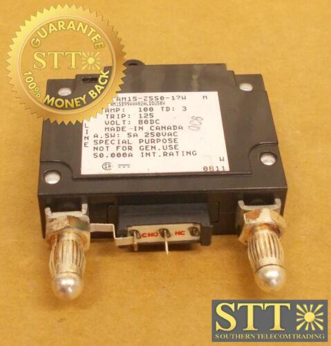 Am1s-z550-17w Heinemann 100 Amp Mid Trip Bullet Circuit Breaker