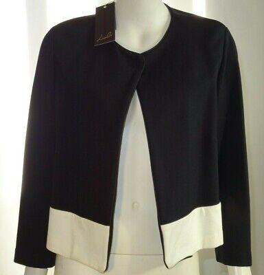 LIZALU' giacca modello chanel donna nero manica lunga F395YAHMA149