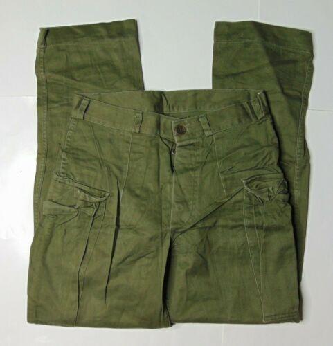 VTG Mens 30 x 30 KL Seyntex Netherlands Army Button Fly Cargo Pants Green 70s