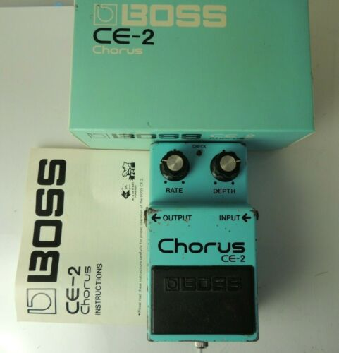 Vintage 1982 Boss CE-2 Chorus FX Pedal Silver Screw Made in Japan w/OG Box