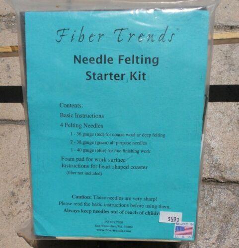 Needle Felting Starter Kit Fiber Trends USA