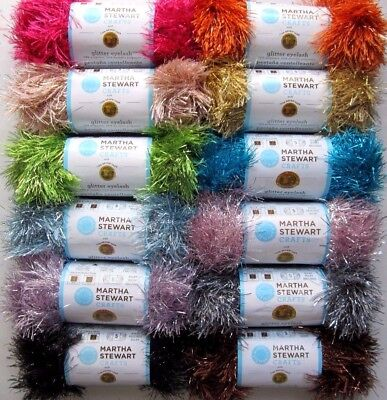 Martha Stewart Crafts with Lion Brand Yarn Glitter Eyelash Yarn Skein You - Yarn Crafts