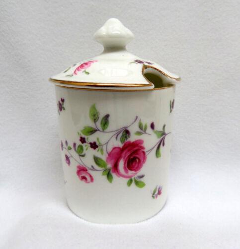 Royal Chelsea England Porcelain Floral Mustard Pot Jar