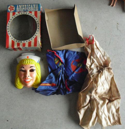 Vintage 1960s Ben Cooper Americana Nurse Halloween Costume in Box SM 4-6