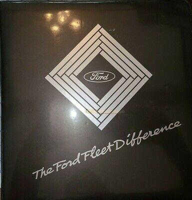1989 Ford Fleet Dealer Album Car and Truck Mustang Thunderbird F Series Bronco