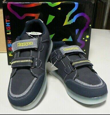 Light Navy Schuhe (Kappa Kinderschuh Flash Lights I Navy/yellow I LED-Schuhe I NEU und OVP!!)