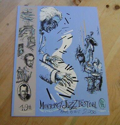 2006 Monterey Jazz Festival Silkscreen Poster Earl Newman Mint