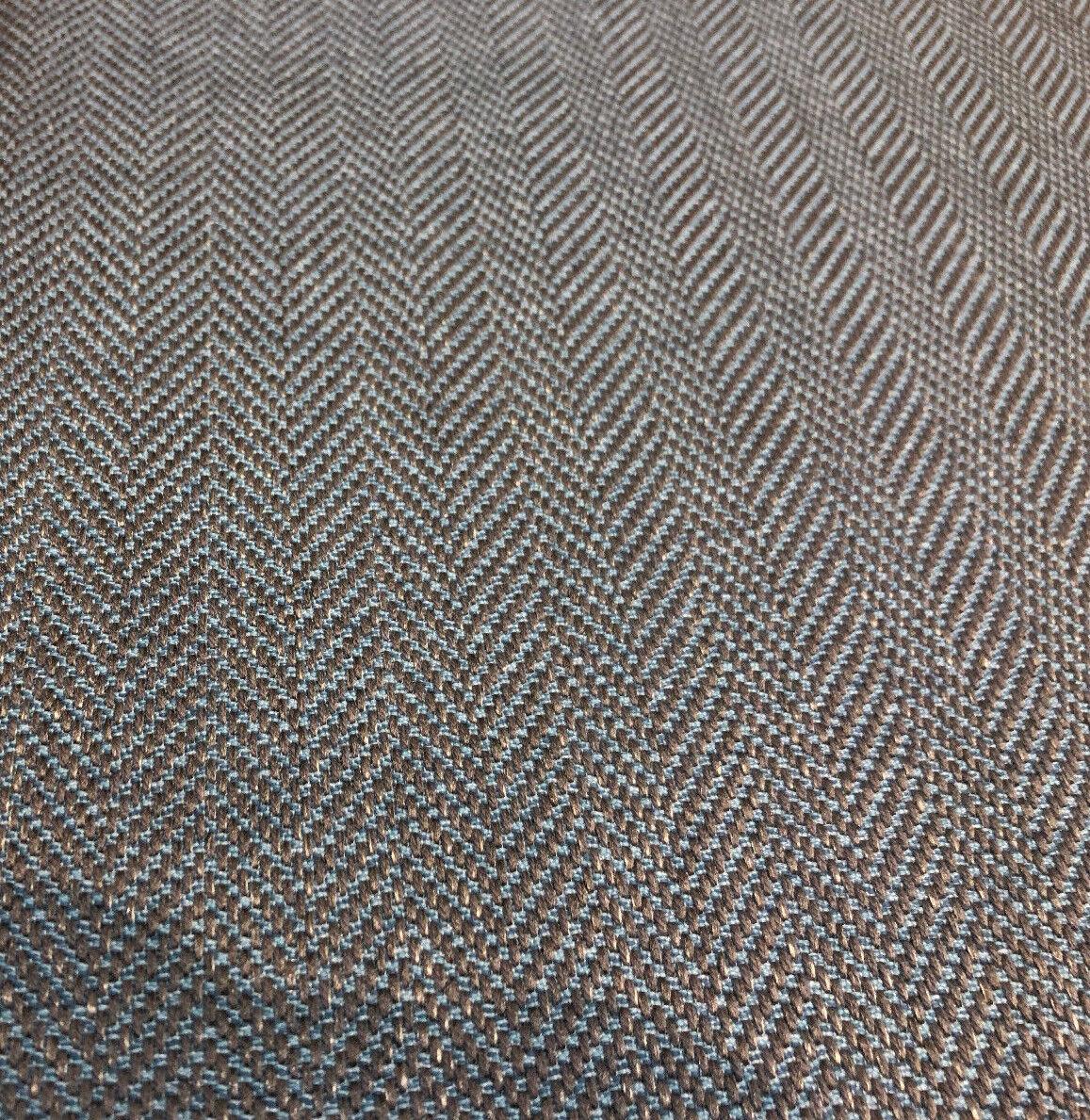Fabricut Micheal Aqua Blue Herringbone Upholstery Fabric by