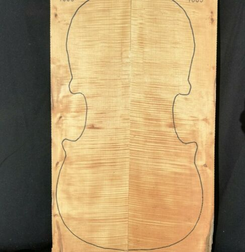 2 pcs Back + Neck + Ribs Cello Set Flamed Maple Tonewood for Luthier Supply 1865