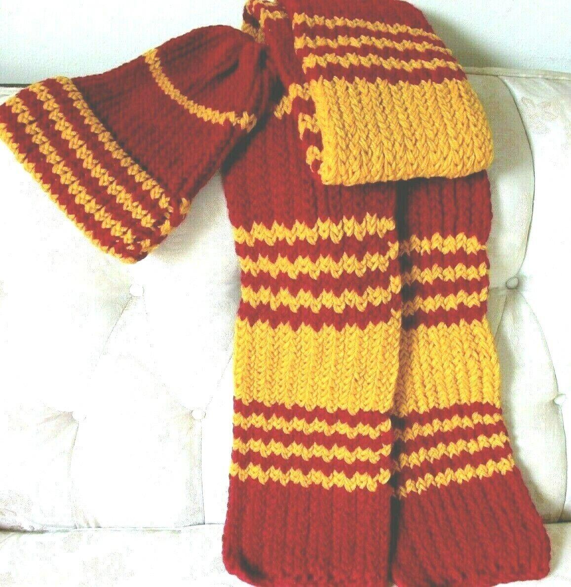 Adult Handmade Unisex Yarn Scarf And Hat 86 Long 7 Width - $24.99