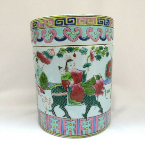 Antique Chinese Porcelain Tea Caddy Jar