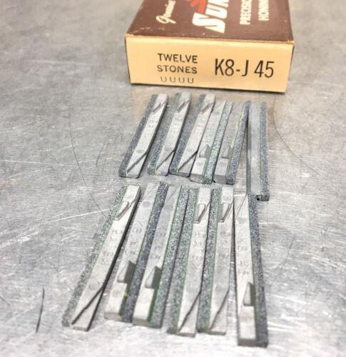 (Box of 12) Sunnen K8-J45 Honing Hone Stones, Silicon Carbide, 150 Grit