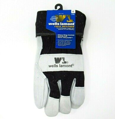 New Wells Lamont Warm Thermofill Cold Weather Gloves Size L 5136l Leather Gloves