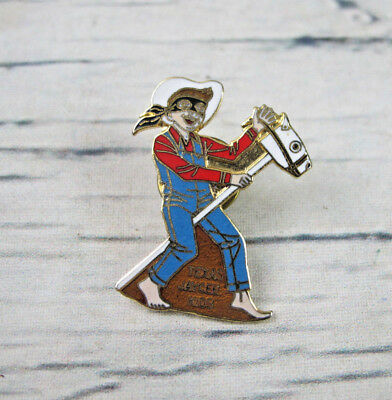Texas Jaycees Kids 1984 Lone Ranger Boy Stick Horse Costume Enamel Lapel Pin