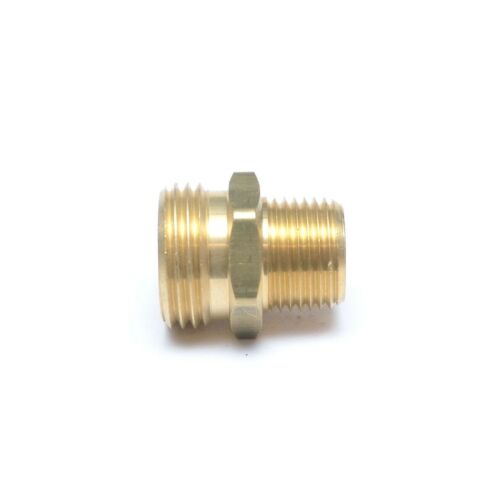 """1/2"""" Male NPT Pipe to 3/4"""" Male Garden Hose GHT Thread Adapter FasParts Water"""
