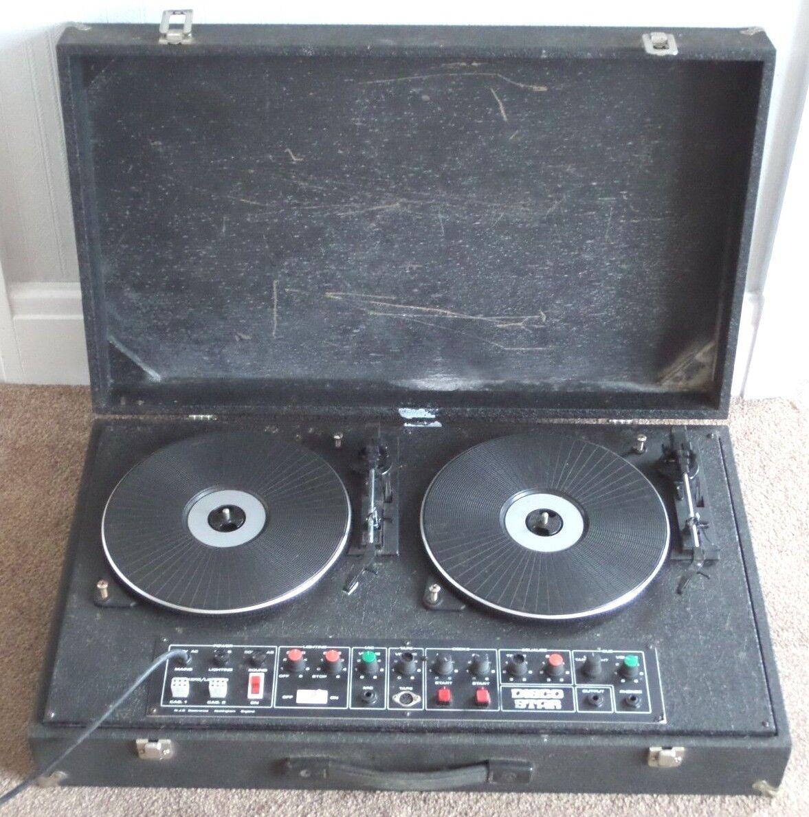 Vintage Disco Star Twin Turntable DJ Decks