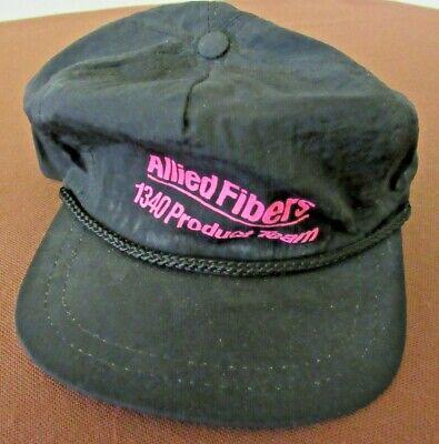 ALLIED FIBERS Baseball Cap Hat - Black & Magenta Snap Adjustable Type Magenta-snap