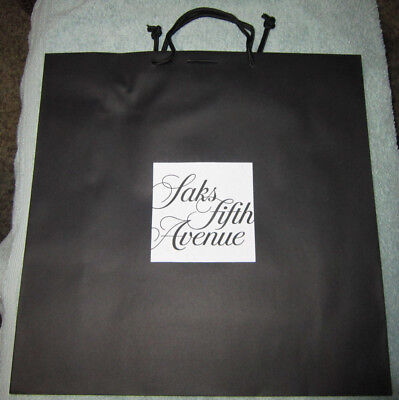 SAKS FIFTH AVENUE Large Shopping Paper Tote Gift Bag 17