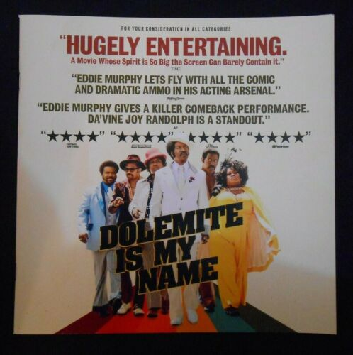 DOLEMITE IS MY NAME FYC  PROMOTIONAL PRESS BOOK BOOKLET PROMO EDDIE MURPHY
