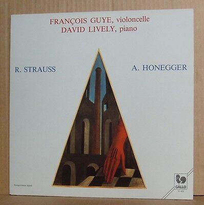 LP Francois Guye & David Lively Strauss Honegger Sonate  Gallo Foc 1985