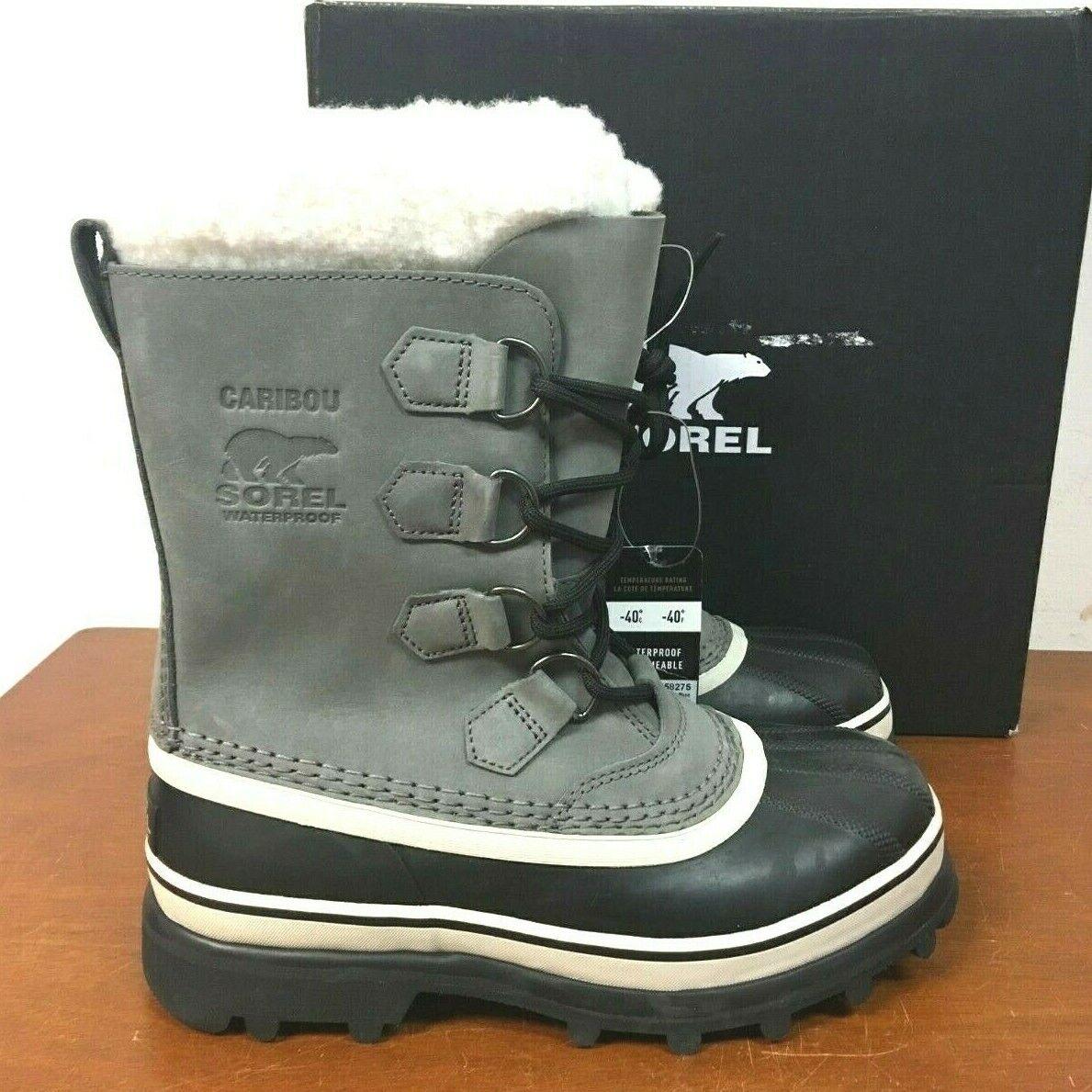 SOREL Women's Caribou Waterproof Rain Snow Winter Boots GRAY