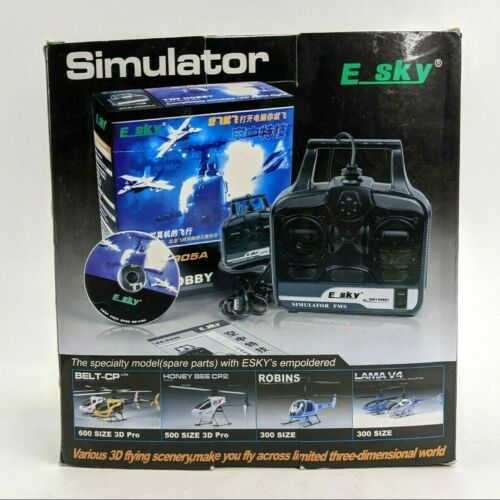 ESKY Hobby Simulator FMS Models 002203 000502 Box CD Rom E SKY 502 USB