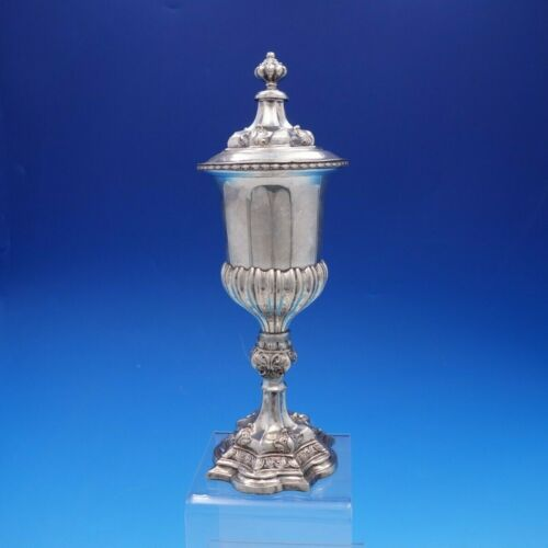 German Weighted 812 Silver Chalice Cup with Cover pre-1886 Vintage (#4302)