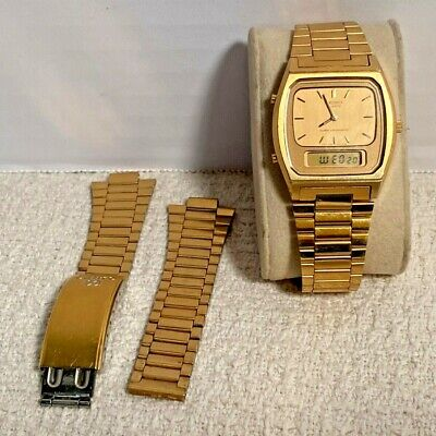 Vintage Seiko Quartz MEN'S Alarm Chronograph wristwatch  H448-5009