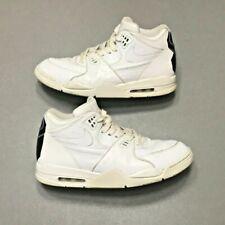 su carbón objetivo  2015 Nike Air Flight 89 LE QS Triple White Ostrich Croc Size 12  (804605-100) | eBay